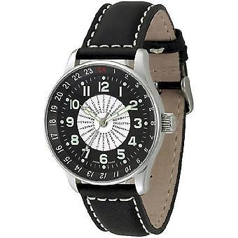 Zeno-Watch Herrenuhr X-Large Pilot world timer P554WT-b1