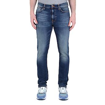 Nudie Jeans Co Lean Dean Indigo Denim Jeans