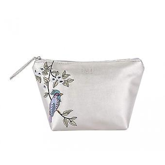 Fable Womens/Ladies Bird Embroidered Makeup Bag