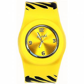 Funky Zebra Yellow Slap On Quartz Silicone Sports Watch