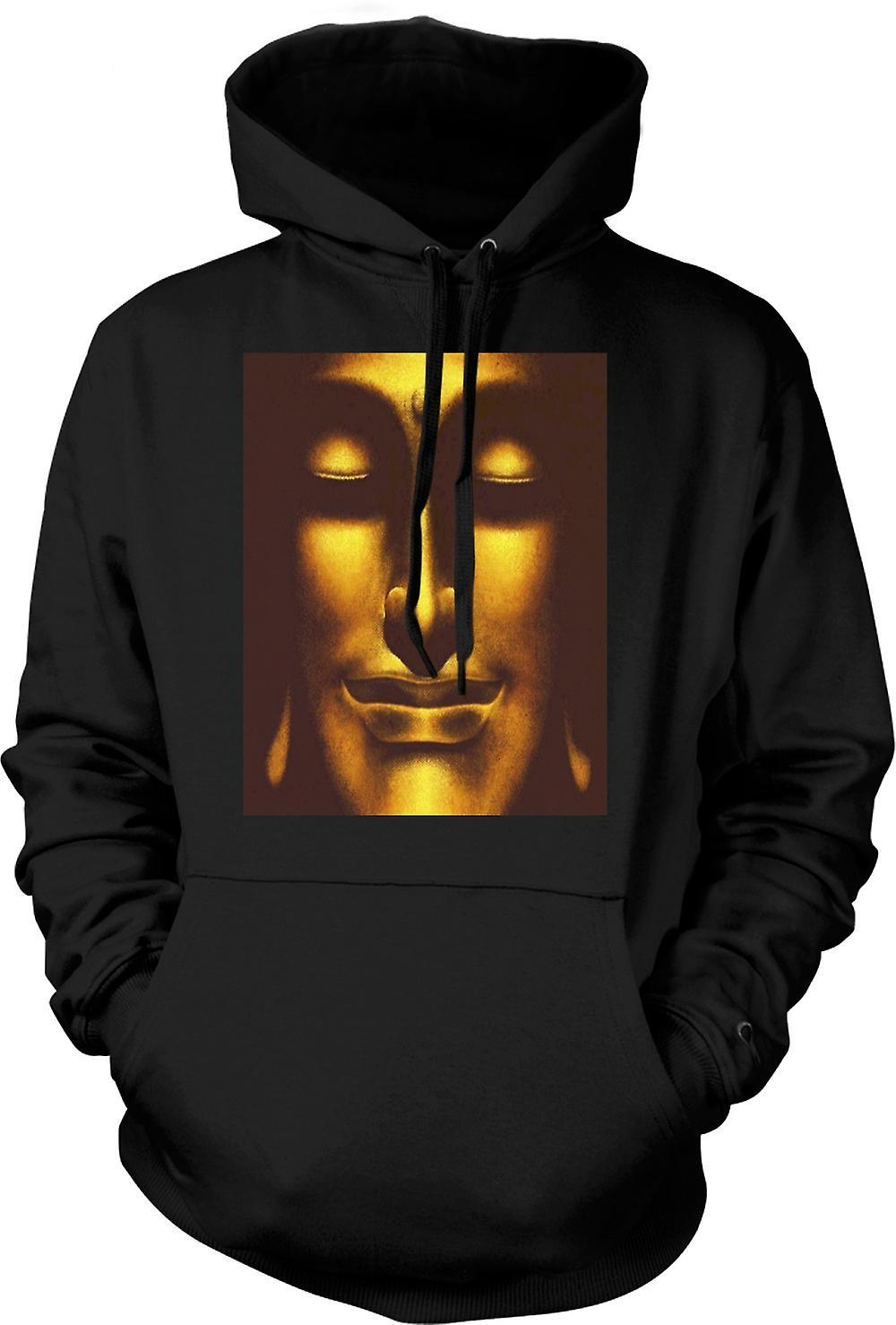 Mens hettegenser - thailandsk gyllen Buddha