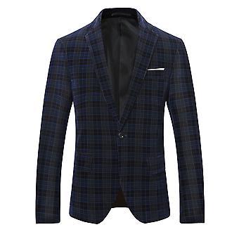 Allthemen Men's Business Casual Plaid Blazer Suit Line Grille Imprimé High Quality Jacket Classic Wild Coats