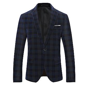 Allthemen Men's Business Casual Plaid Blazer Suit Line Grid Printed High Quality Jacket Classic Wild Coats