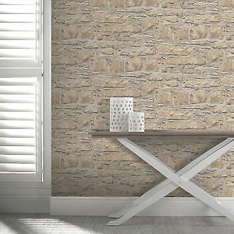 Arthouse Church Stone Pattern Wallpaper Faux Effet de brique texturée 697100