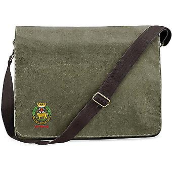 York And Lancaster Regiment Veteran - Licensed British Army Embroidered Vintage Canvas Despatch Messenger Bag