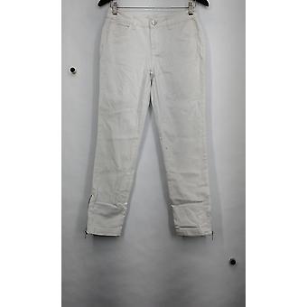 Kate et Mallory 5 Pocket Skinny Jean w/ Ankle Zipper Detail White A428724
