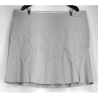 Alfani Plus Skirt Pull On A Line w/ Zippered Pockets Gray Womens