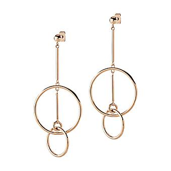 Morellato Women Plated Rose Gold Earrings SAKM13