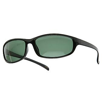 Mens Mid-Size Casual Lifestyle Polarized Sports Wrap Style Sunglasses