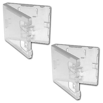 Replacement nintendo ds & gba retail game cartridge case - 2 pack clear