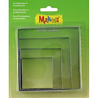 Makin's Clay Cutters 4/Pkg-Square M365-02