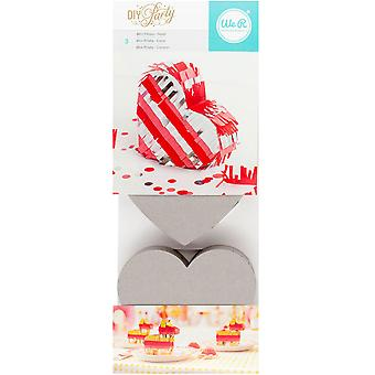 DIY Party Mini Pinata 3/Pkg-Heart 5.25