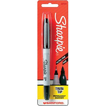 Sharpie Twin Tip Permanent Marker 1 Pkg Black 32101S