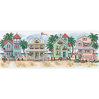 Seaside Cottages Counted Cross Stitch Kit 18