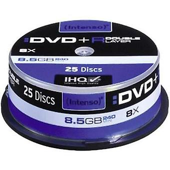 En blanco DVD + R DL 8.5 GB Intenso 4311144 25 PC huso