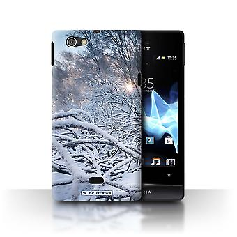 STUFF4 Case/Cover for Sony Xperia Miro/ST23I/Branches/Twigs/Winter Season