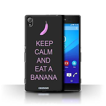 STUFF4 Case/Cover for Sony Xperia Z4/Eat a Banana/Pink/Keep Calm