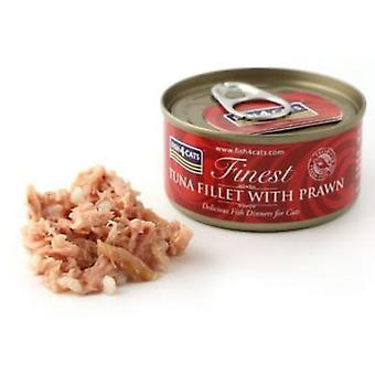 Fish4Cat Canned tuna steak with prawns 70 Gr (Cats , Cat Food , Wet Food)