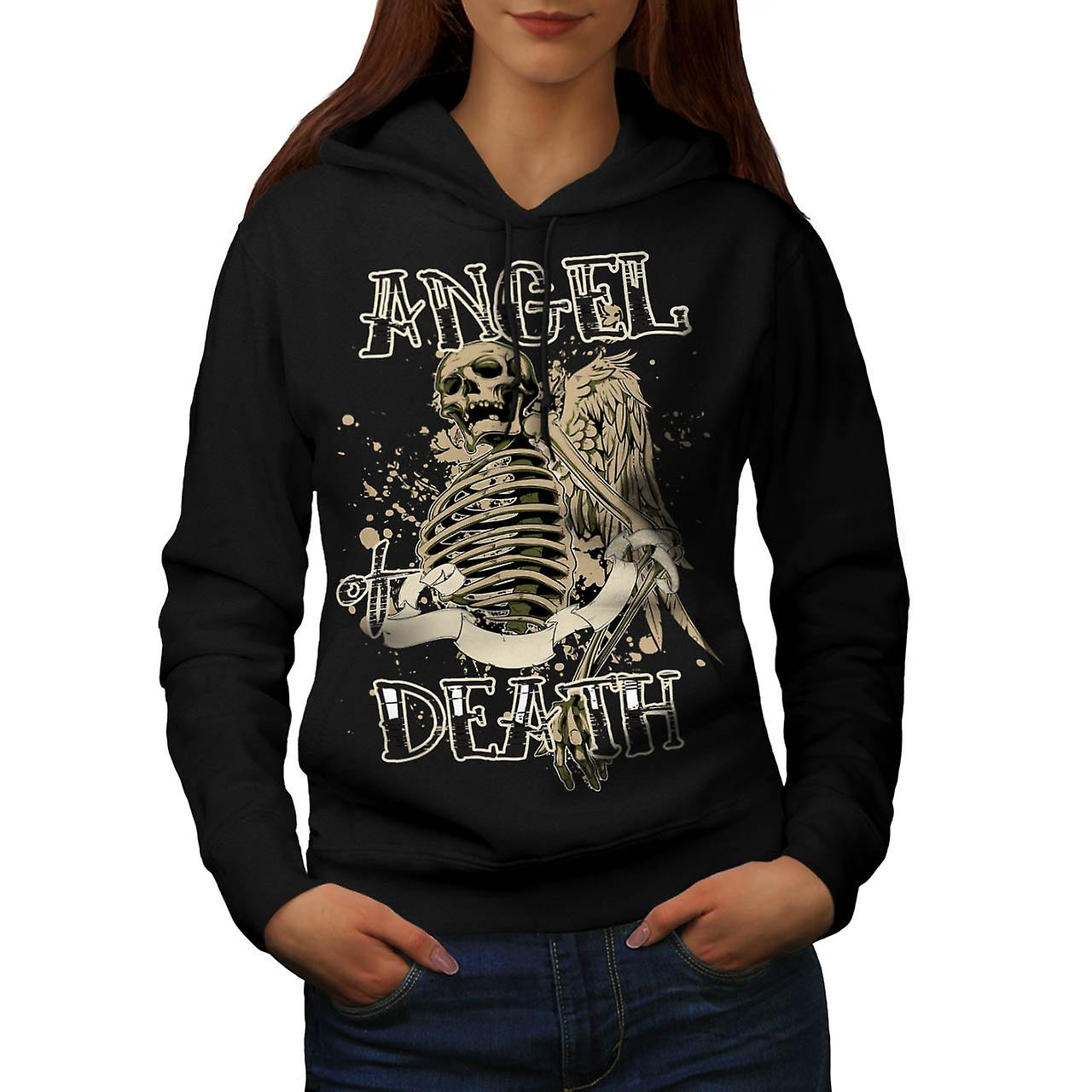 Angel Death Halo Wing Hell Gate Women Black Hoodie | Wellcoda
