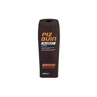 Piz Buin alergia loción SPF 15 200 ml - bronceador