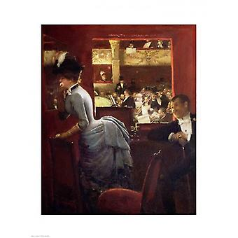 The Box by the Stalls c1883 Poster Print by Jean Beraud