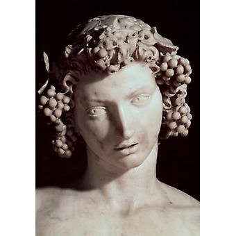 Bacchus 1496-7 Michelangelo Buonarroti  Marble Sculpture Museo Nazionale de Bargello Florence Italy Poster Print