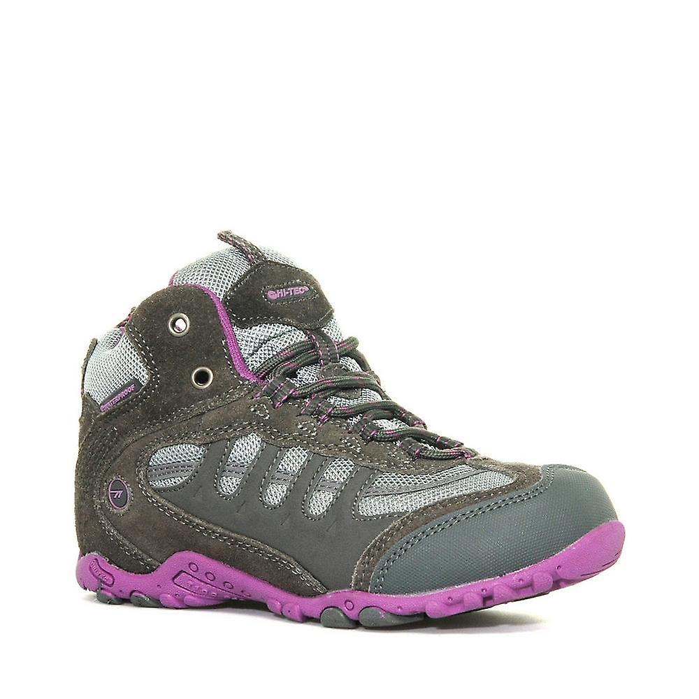 New Hi-Tec Girl&s Penrith Waterproof Walking bottes gris