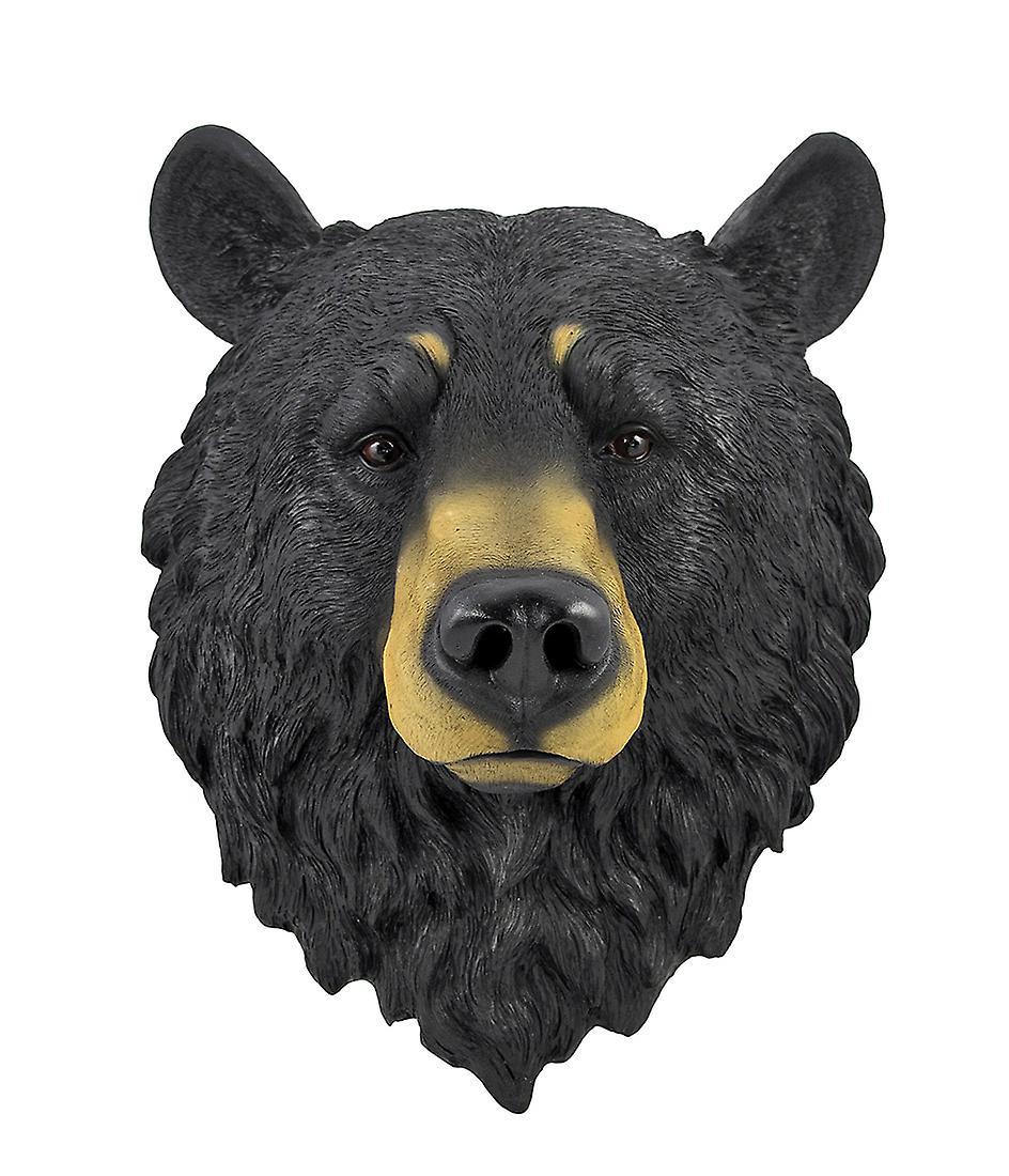 Ours noirs tête buste de Statue de montage mural