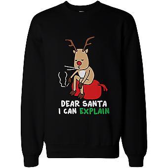 Рудольф украли мешок Санта-Клауса и некурящих смешные Толстовки милый Рождество свитер