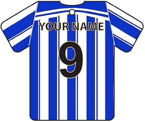 Personalised Sheffield Wednesday Football Shirt Car Air Freshener