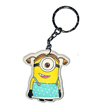 Despicable Me Puffy Key Chain | Minion Keyring | DRESS MINION