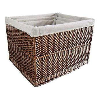 Set of 3 Somerset Rectangular Lined Log Baskets