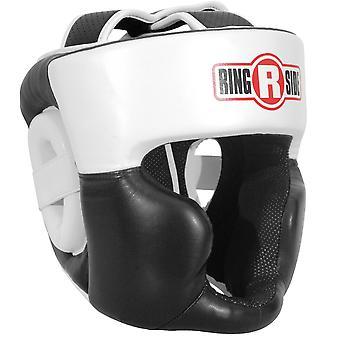 Ringside fuld ansigt Sparring boksning hovedbeklædning - hvid/sort