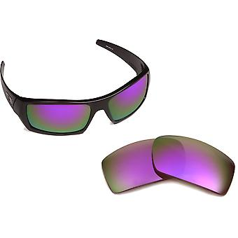 New SEEK Polarized Replacement Lenses for Oakley GASCAN Black Purple Mirror