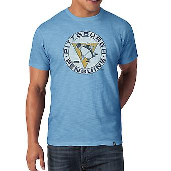 47 fire SCRUM slim shirt - NHL Pittsburgh Penguins sky blue