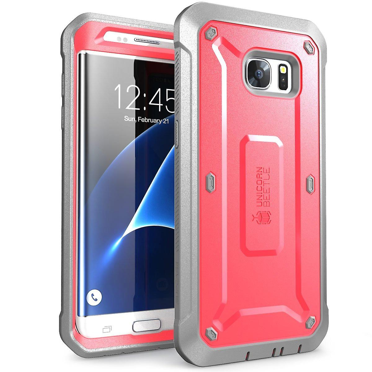 SUPCASE Galaxy S7 Edge Unicorn Beetle Pro Case and Holster - Pink