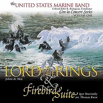 United States Marine Band - Johan De Meij: Lord of the Rings; Stravinsky: Firebird Suite [CD] USA import