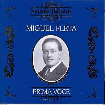 Miguel Fleta - Prima Voce: Miguel Fleta [CD] USA import