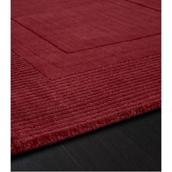 Arabelle Red  Rectangle Rugs Plain/Nearly Plain Rugs