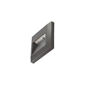 Timeguard Square 1.1W LED Step Light, Dark Grey