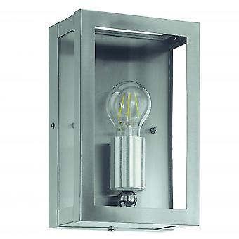 Eglo Alamonte 1 Light IP44 Wall Light Stainless Steel