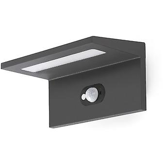 Faro Bcn Teba Dark Grey Wall Lamp Pir Solar Led 4000K