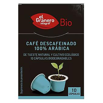 El Granero Integral Decaffeinated Coffee capsules 100% Arabica Bio, 50 Gr
