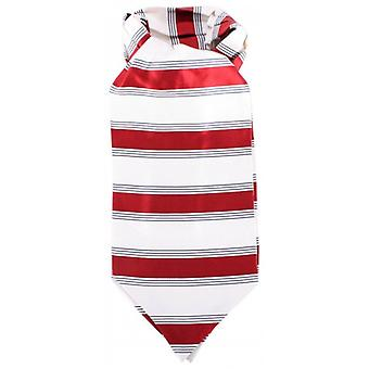 Knightsbridge Neckwear Striped Silk Cravat - Red/Cream