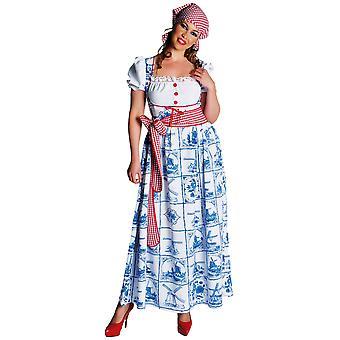 Kostüme Frauen Frauen Dirndl Kleid Holland blau