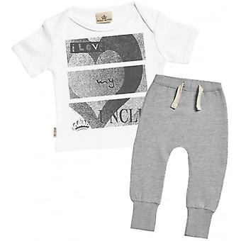 Spoilt Rotten I Love My Uncle Baby T-Shirt & Joggers Outfit Set