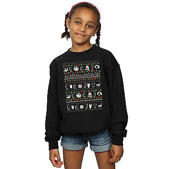 Disney Girls Nightmare Before Christmas Festive Icons Sweatshirt