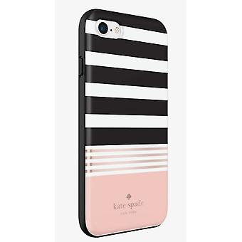 kate spade new york Flexible Hardshell Case for iPhone 7 - Stripe Black/White/Co