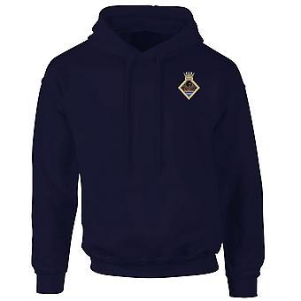 HMS Phoenix Embroidered Logo - Official Royal Navy Hoodie Hooded Sweatshirt
