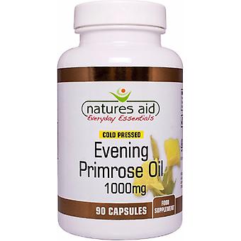 Natures Aid Evening Primrose Oil 1000mg (9-10 % GLA) froid pressé, 90 Capsules